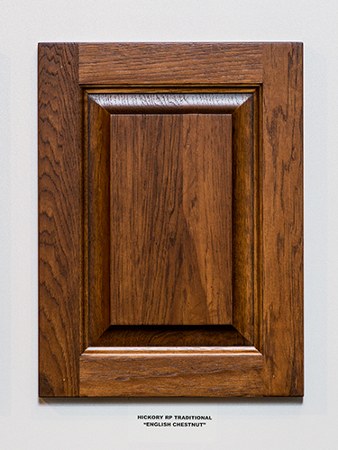 A Hickory Kitchen Cabinet Door In The English Chestnut Finish